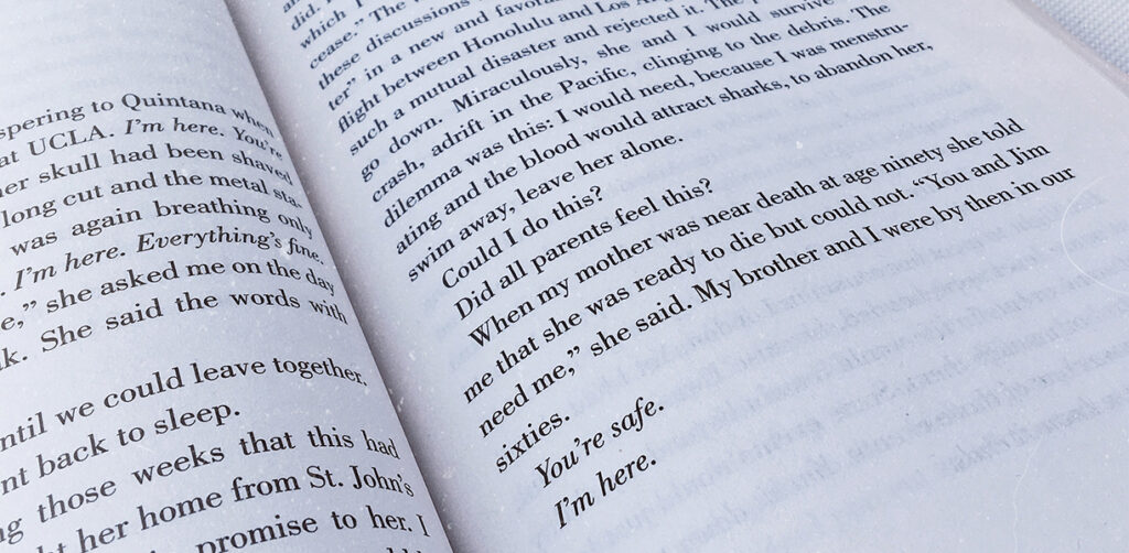 Joan Didion – You're safe. I'm here.