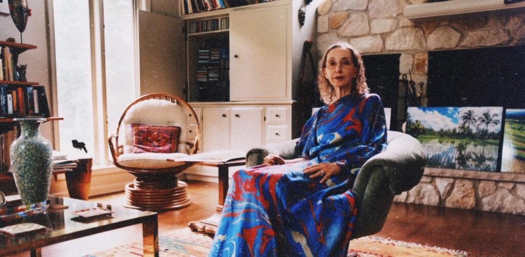 Joyce Carol Oates i sitt hem