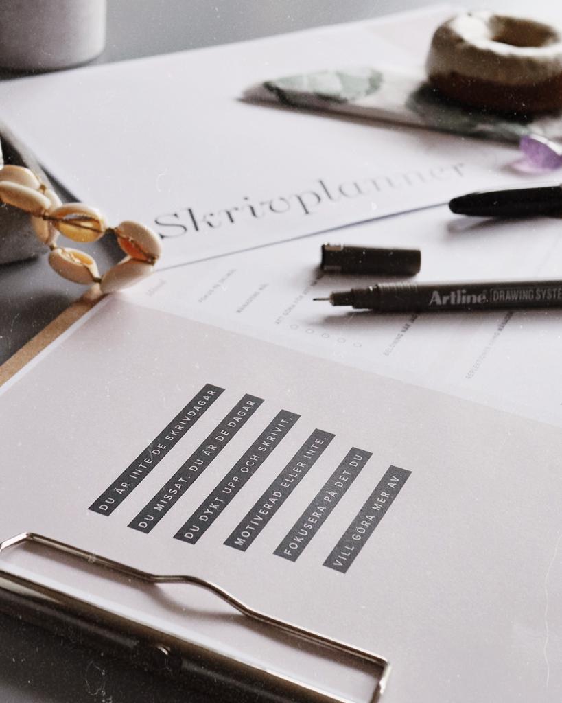 skrivplanner förverkliga din författardröm