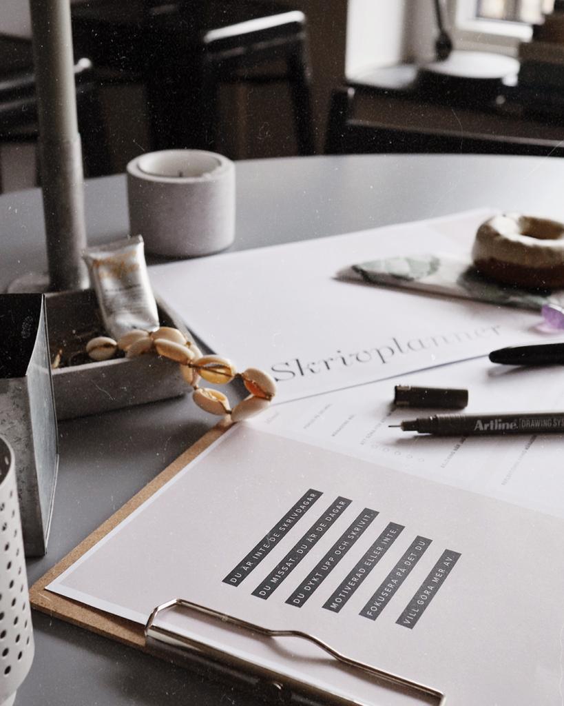 skrivplanner nå din skrivdröm
